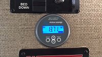 Bluetooth Victron battery meter for coach and starter batteries. Set your desired amp hour threshold, and receive alerts if you drop below 50%, or whatever threshold you choose. Also display on the...