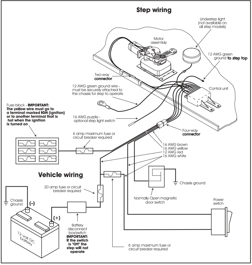 kwikee rv electric steps wiring diagram electrical switch