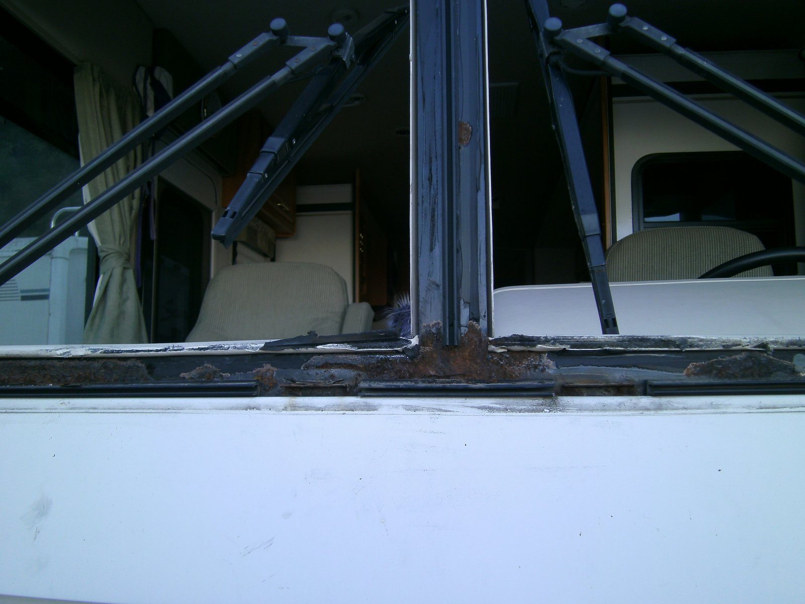 Rust out under windshield - Winnebago Owners Online Community