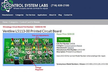 Click image for larger version  Name:Ventline Green Board #L5113-03 Repair At Control Systems Labs.jpg Views:19 Size:172.6 KB ID:177797