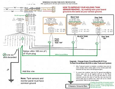 Click image for larger version  Name:2 Holding Tank TrueLevel Upgrage  -- 'JP'  Ground Wire Modification Diagram.jpg Views:23 Size:307.1 KB ID:177808