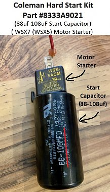 Click image for larger version  Name:1 Coleman Mach (2-Ton) Compressor START Capacitor #1497-086 (88-108uF).jpg Views:8 Size:146.2 KB ID:179282