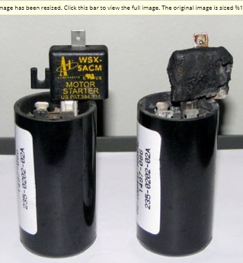 Click image for larger version  Name:1 Compressor START Capacitor 88uF-108uF, Part #8333A9021 aka #1497-086.jpg Views:8 Size:104.4 KB ID:179283
