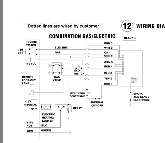 atwood furnace wiring diagram color  atwood gc6aa-9e troubleshooting on  atwood g6a-8e