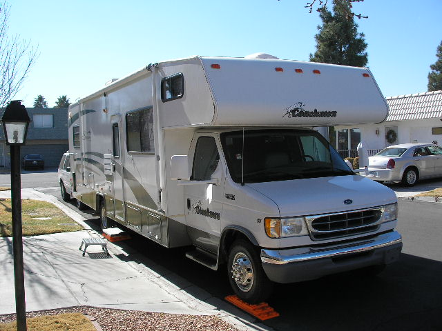 2002 Coachman RV Santara 316KS  Ford V10.   Best riding and handling, but not enough storage space.